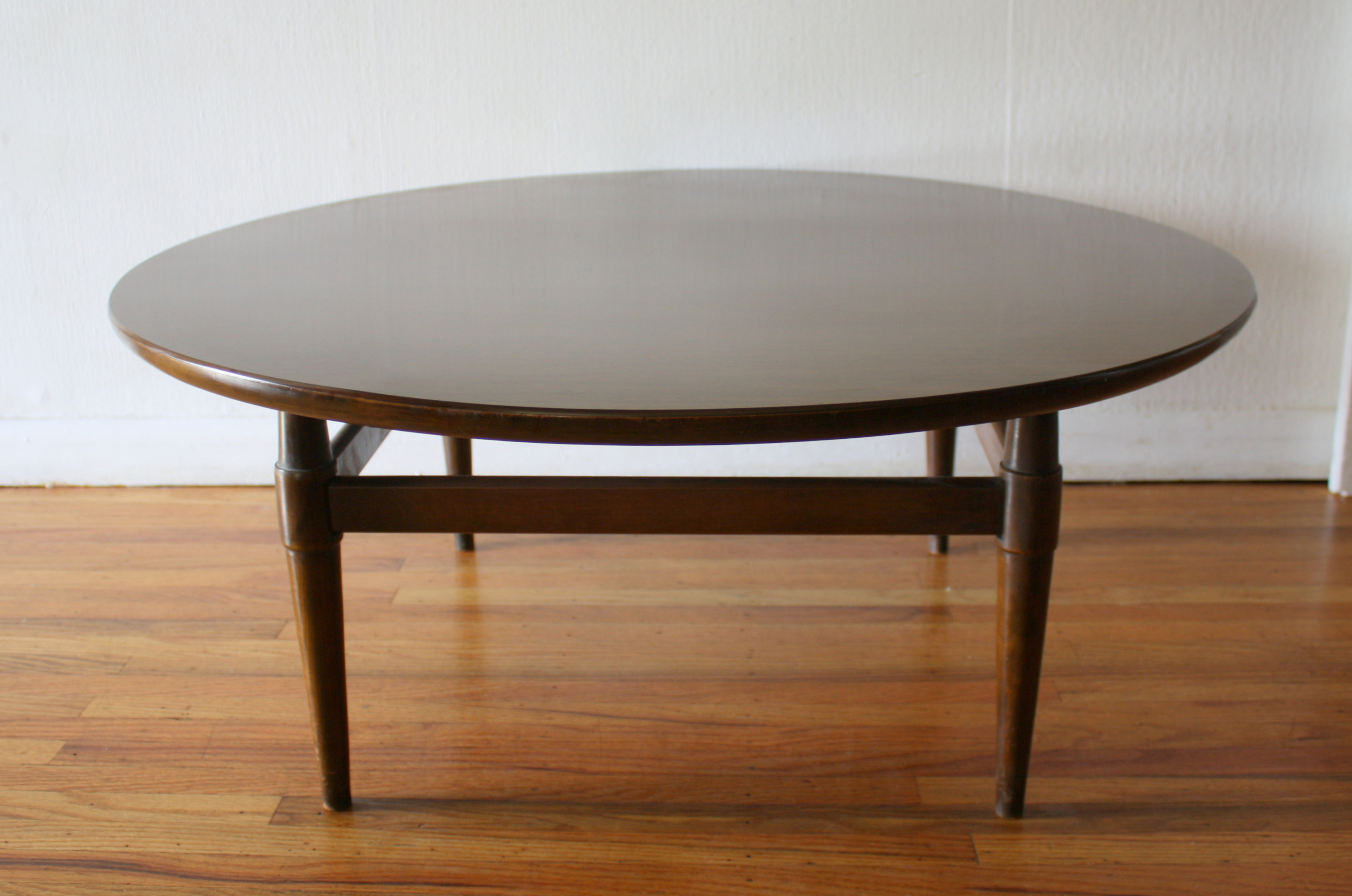 Round Mid Century Modern Coffee Table Round Designs