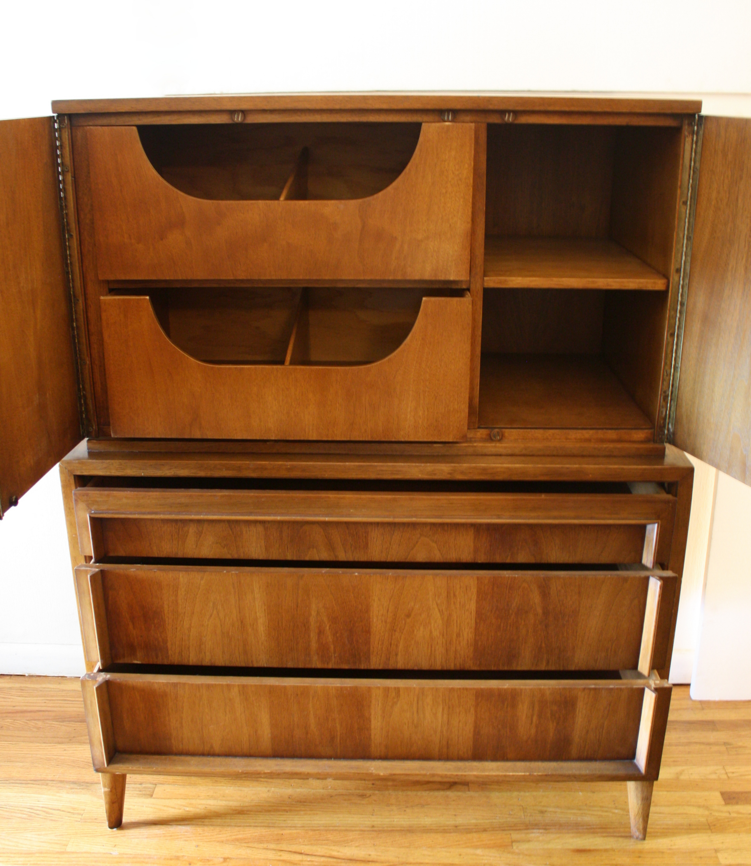 mcm armoire tall dresser with rattan doors 2