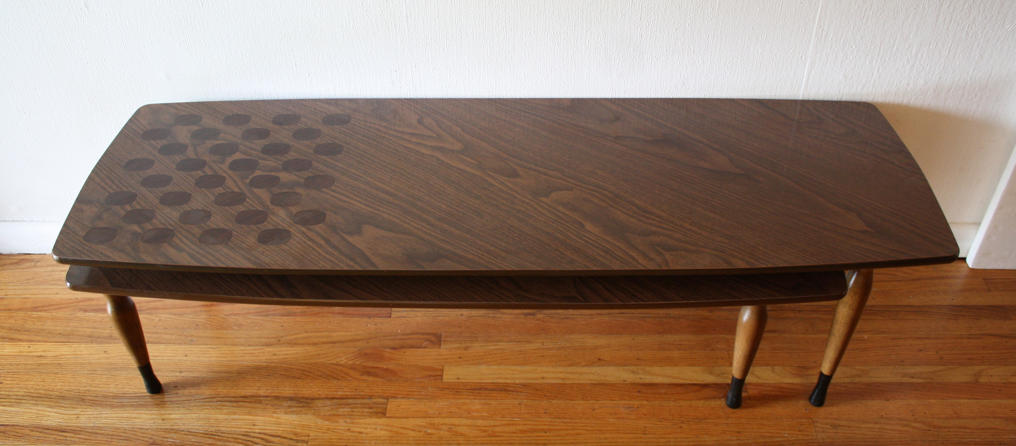 Mid Century Modern Swivel Coffee Table Picked Vintage
