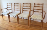mcm dining chairs with bowtie backs 1