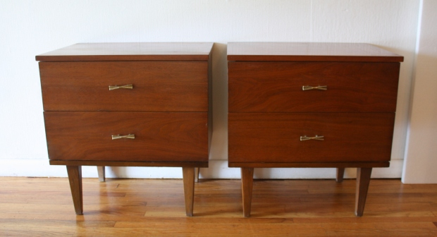 mcm pair of bow tie nightstands 1