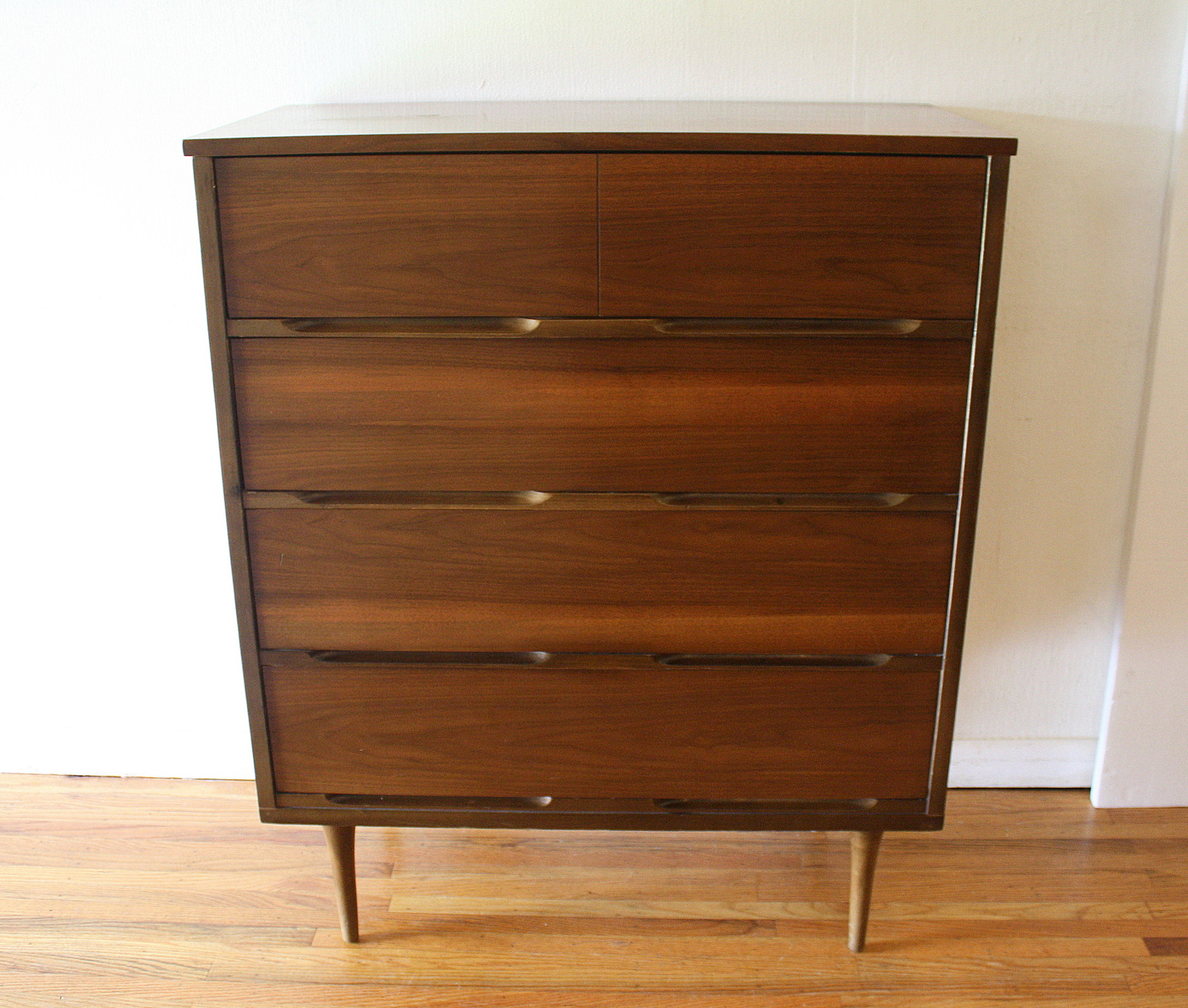 mcm tall dresser streamlined drawers 1