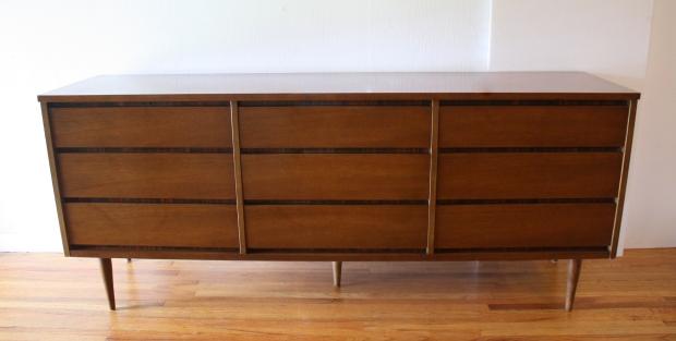 Bassett 9 drawer low dresser credenza 1
