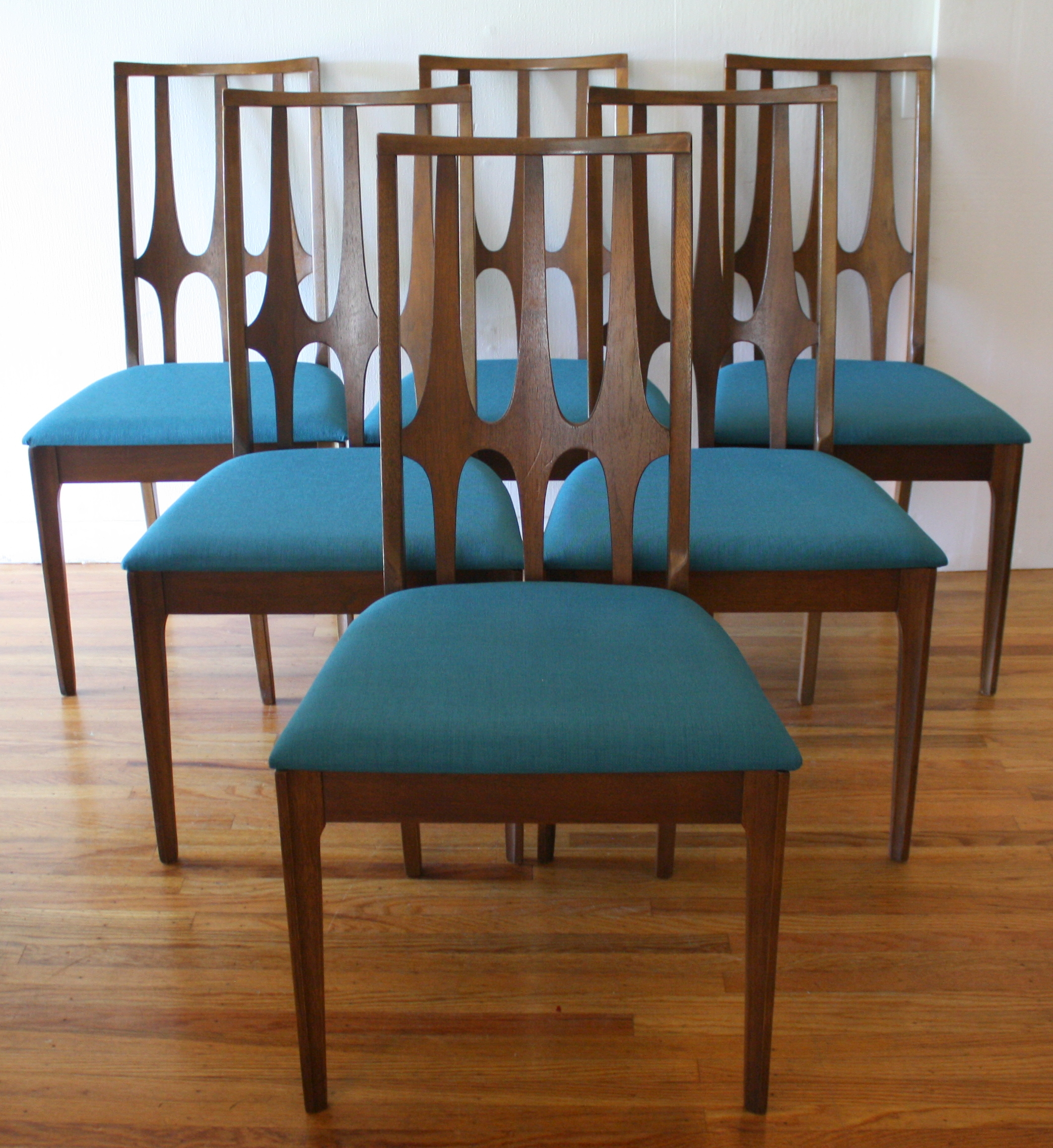 Mid century modern broyhill brasilia dining table and for Modern dining table and chairs set