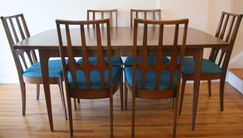 Mid Century Modern Broyhill Brasilia Dining Table and Dining ...