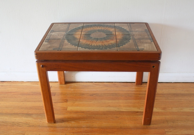 Danish teak tile side table 3