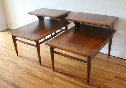 Lane 2 tiered side end tables 1