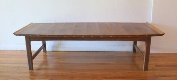Lane coffee table inlaid wood 2