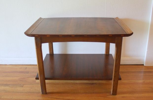 Lane inlaid side end table 2