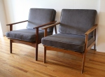 mcm pair of elephant gray chairs 1