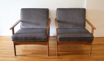 mcm pair of elephant gray chairs 2