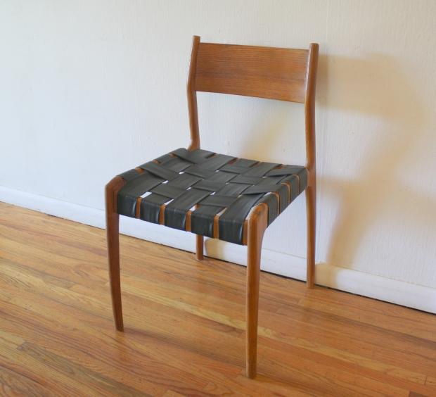 mcm Danish teak chair woven seat 1.JPG