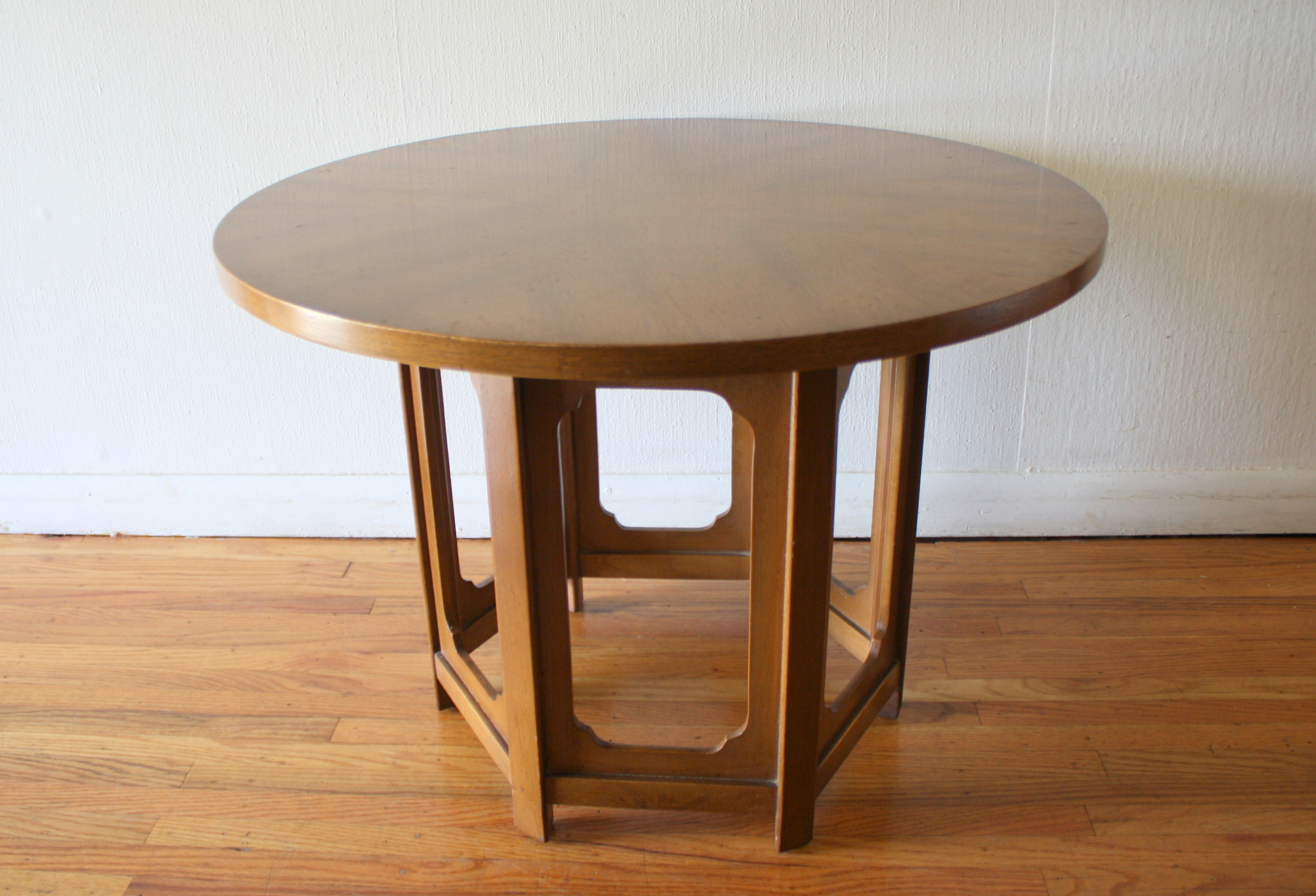 Mid Century Modern Round Side End Tables Picked Vintage