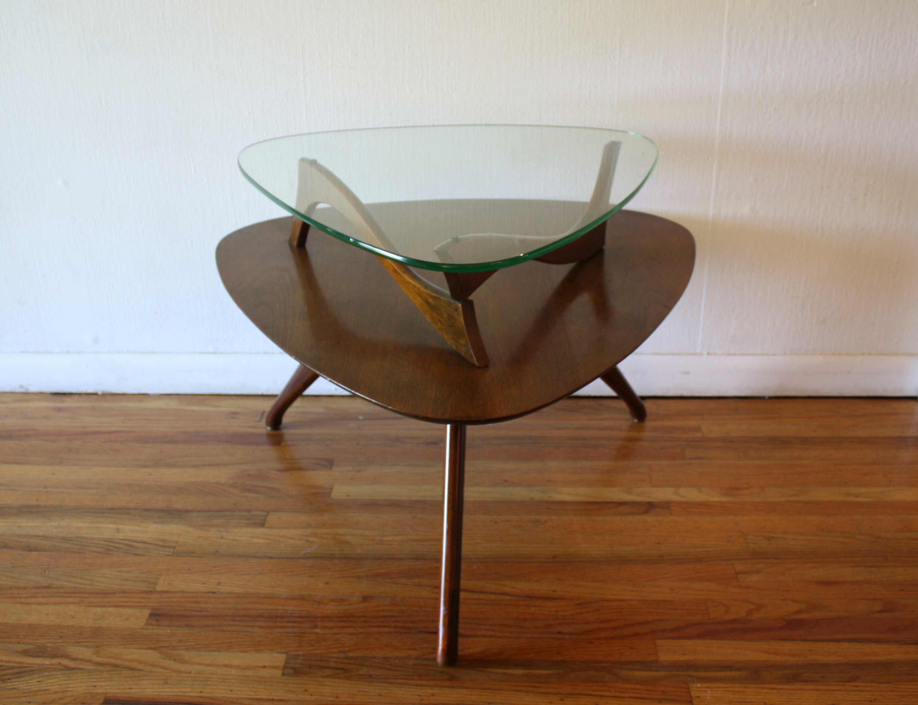 Mid century modern floating guitar pick side end table
