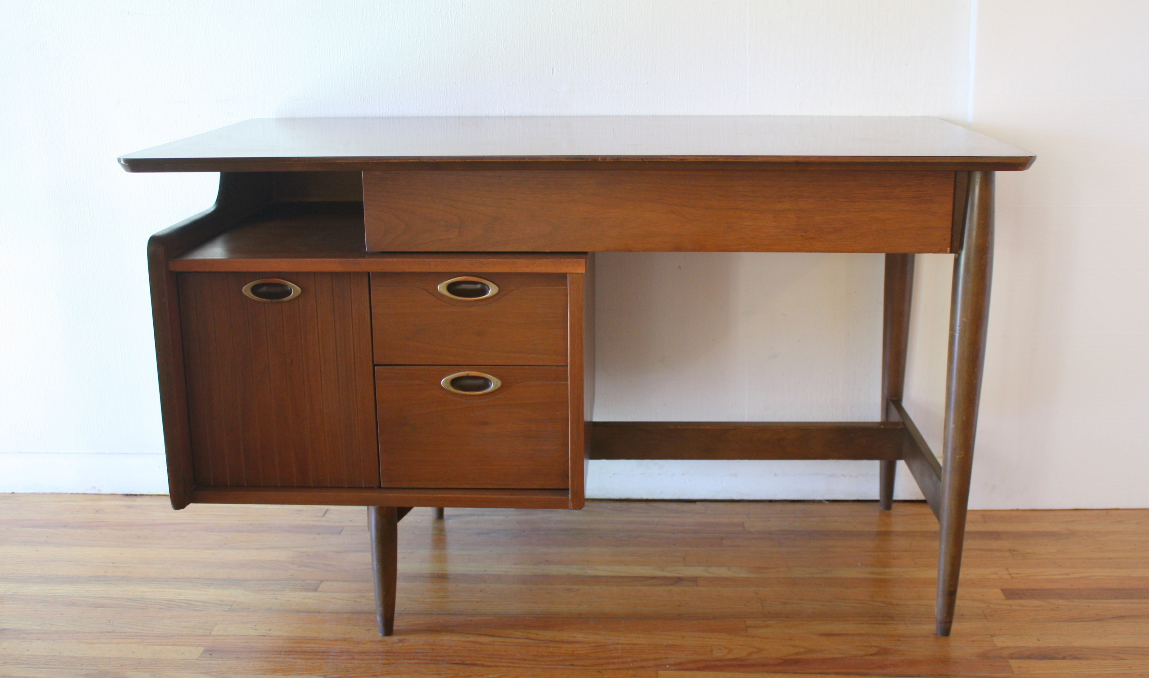 Mid Century Modern Floating Desk from Hookers Mainline Series
