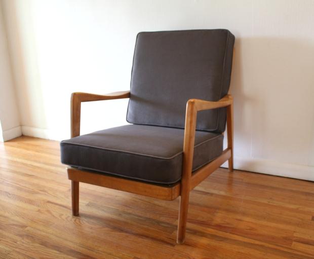 mcm arm chair gray velvet cushions 1.JPG