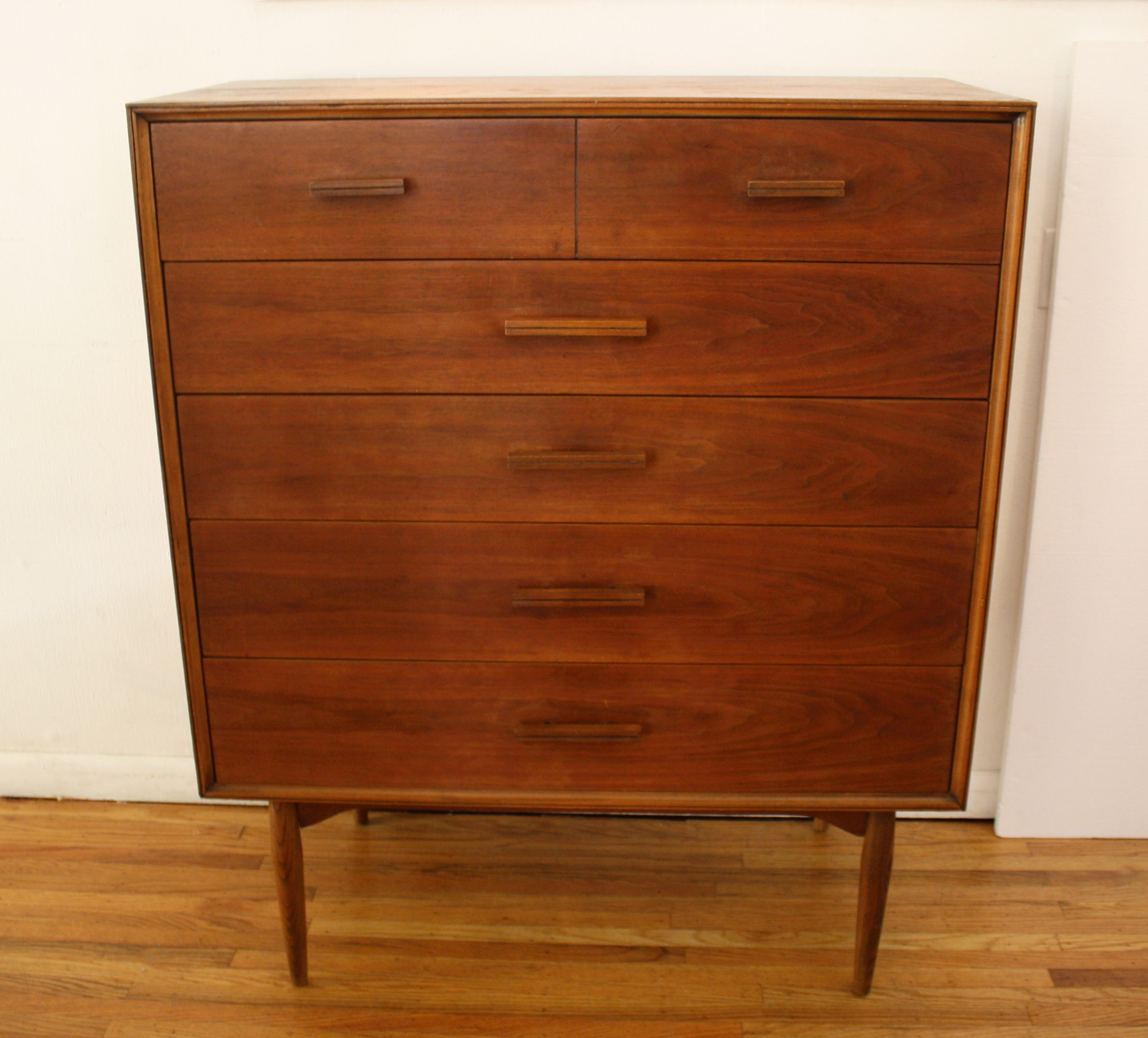 mcm tall dresser with block handles 1.JPG