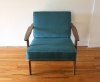 mcm-arm-chair-with-teal-velvet-cushions-2