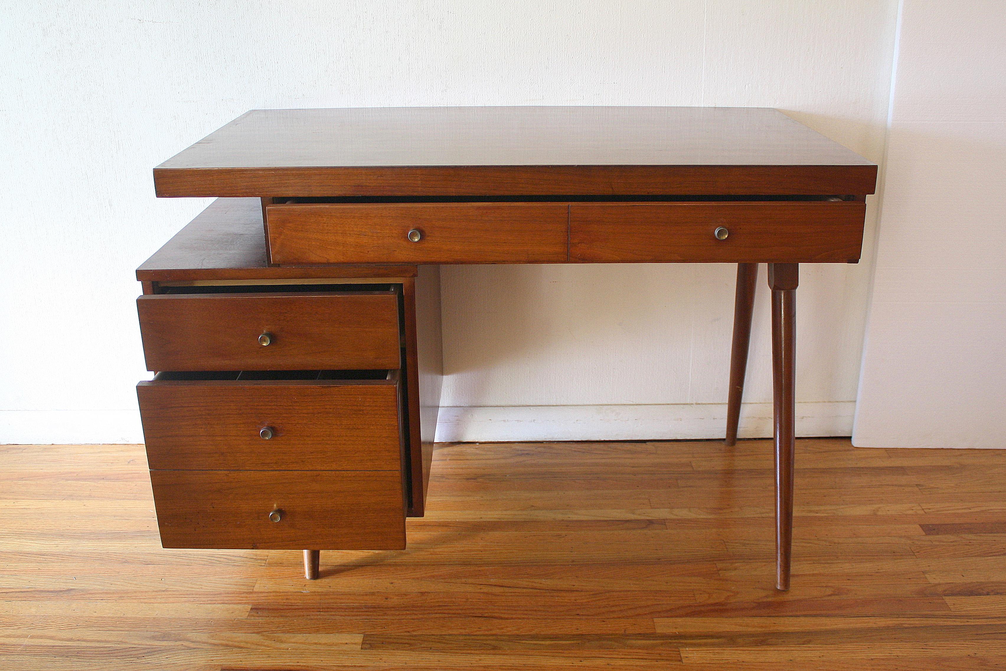 Mid Century Modern Desk With Floating Design Picked Vintage