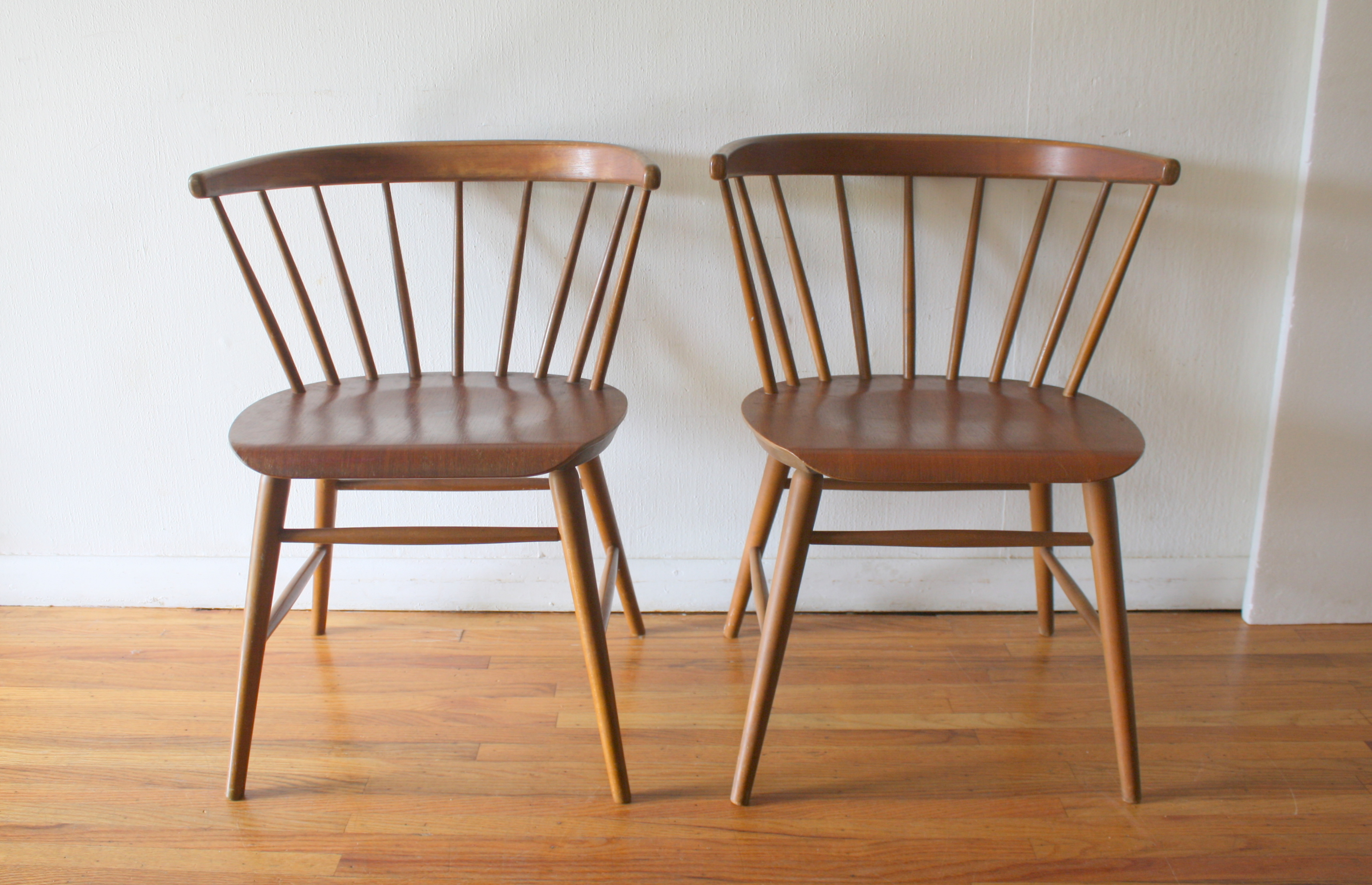 Mid Century Modern Pair Of Danish Chairs Picked Vintage