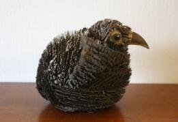 Brutalist baby owl sculpture 2