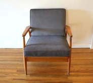 elephant gray velvet chair 1