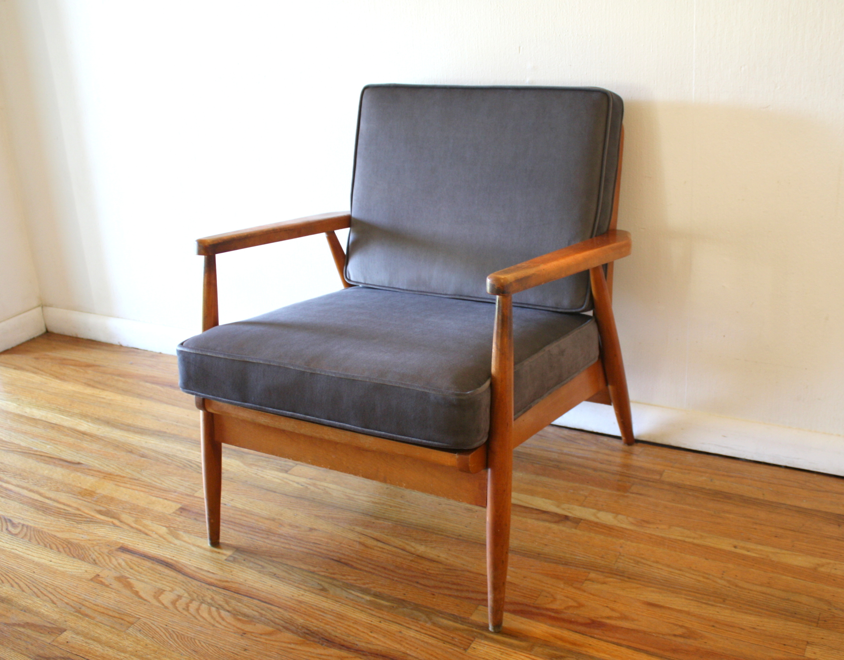 elephant gray velvet chair 2