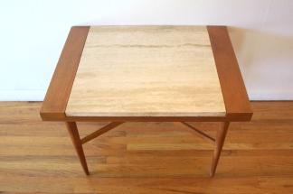 Italian marble cross base side end table 2