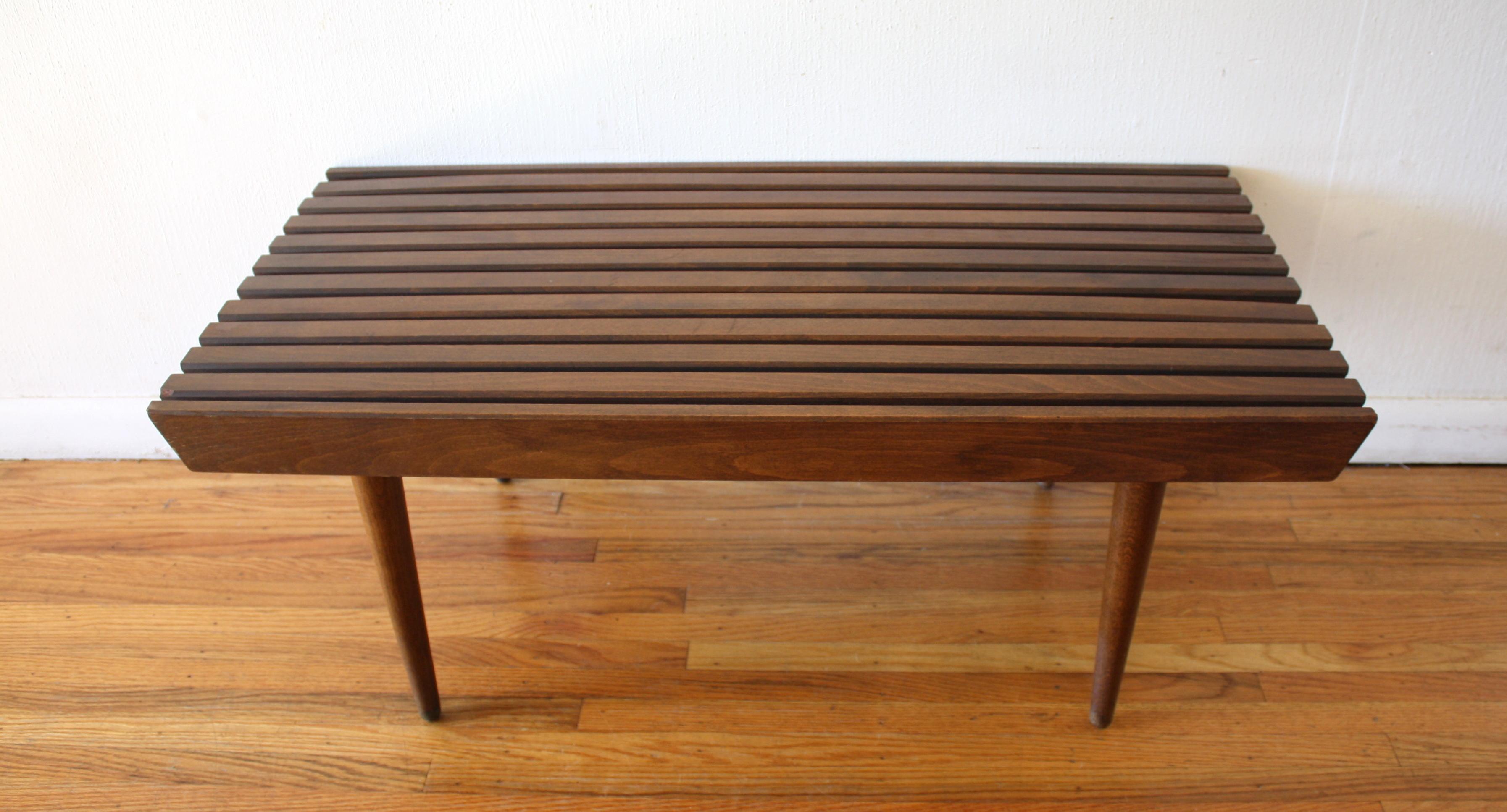 Mcm 36 Slatted Bench Table 2 Picked Vintage