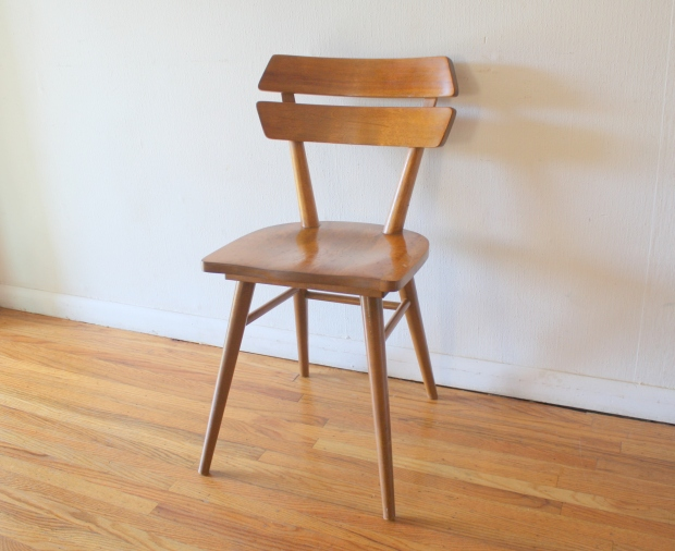mcm blonde splayed leg chair 1