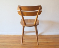 mcm blonde splayed leg chair 4