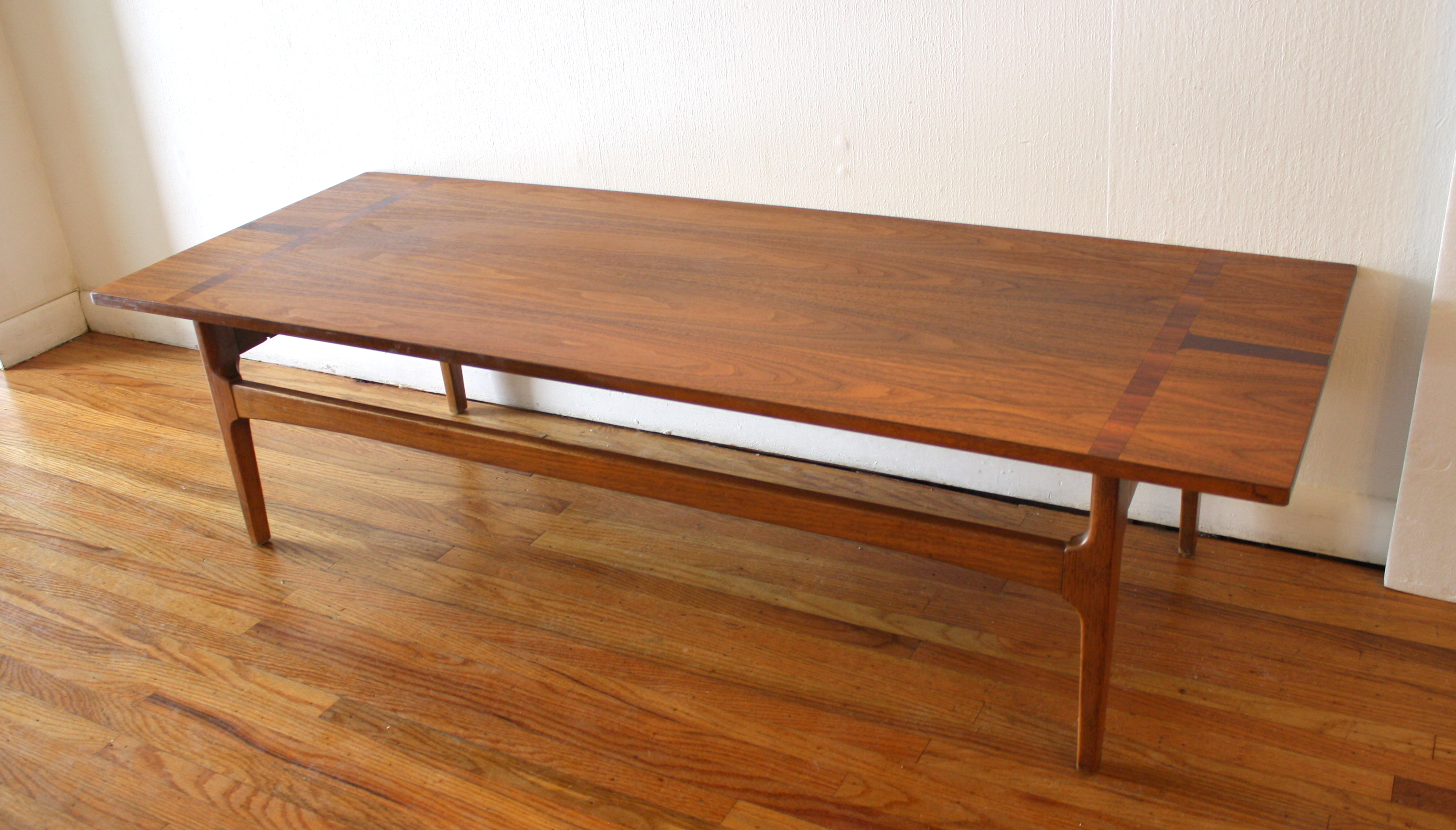 Mid Century Modern Parquet Coffee Table Picked Vintage