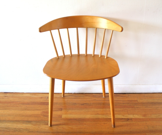 mcm danish blond spindle back chair 1