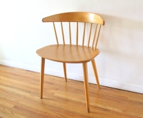 mcm danish blond spindle back chair 2