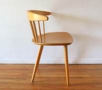 mcm danish blond spindle back chair 3