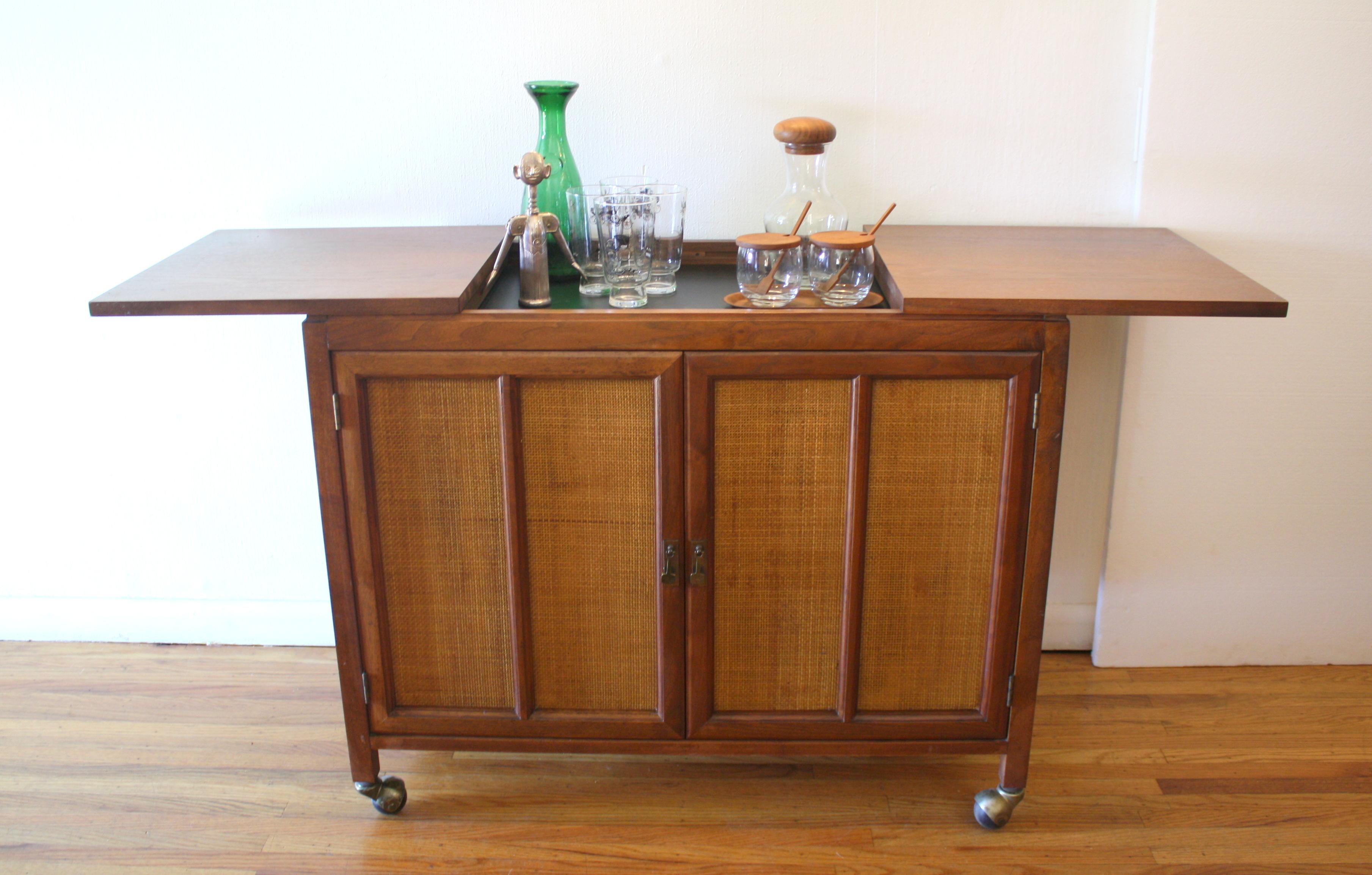 hidden bar furniture. mcm hidden bar cabinet with rattan doors 6jpg furniture