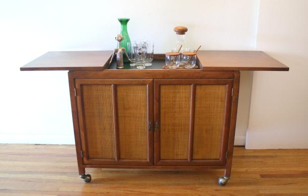 mcm hidden bar cabinet with rattan doors 6.JPG