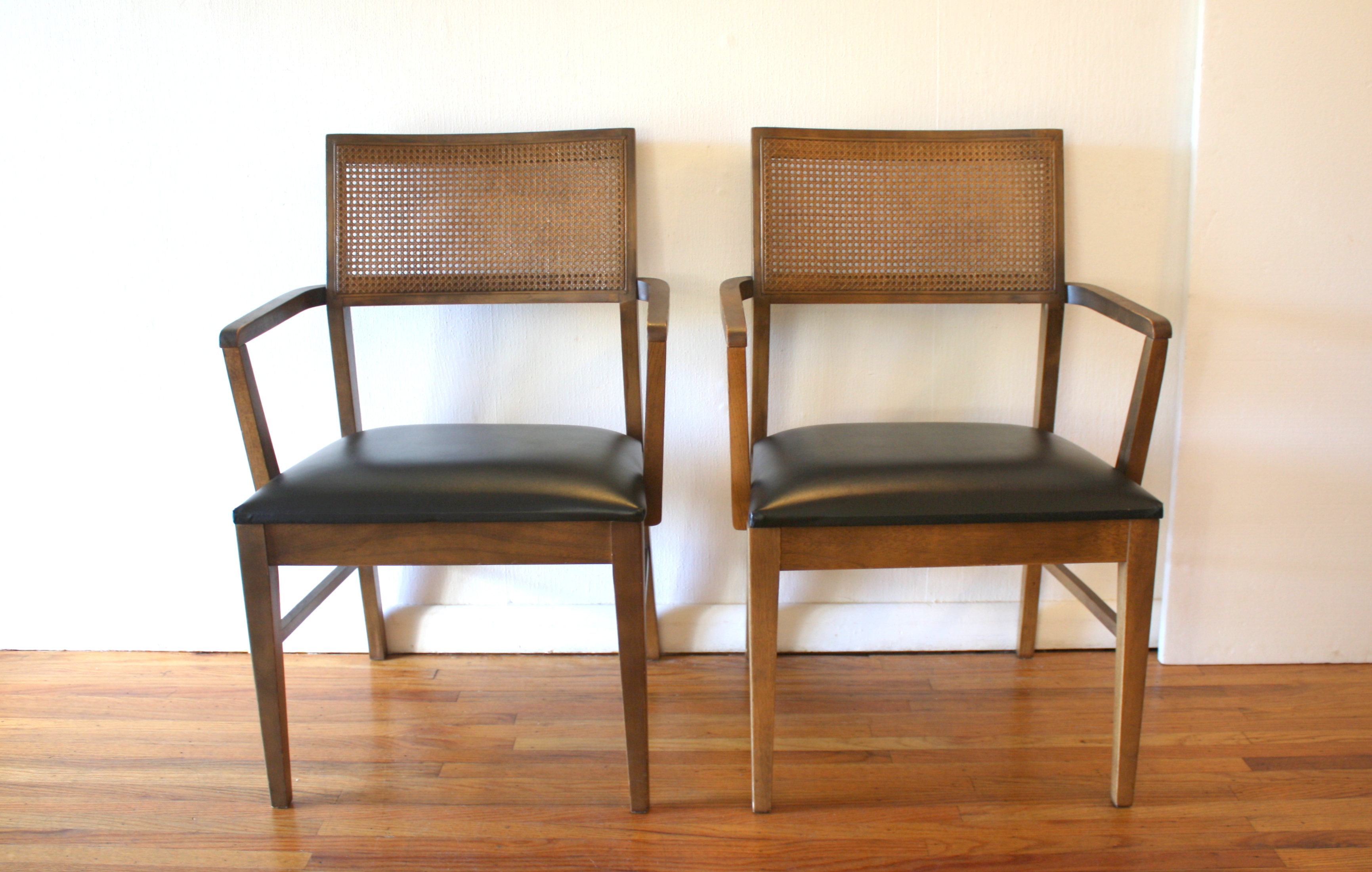 mcm pair of rattan back chairs 1.JPG