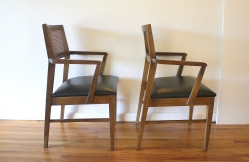 mcm pair of rattan back chairs 2