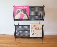 mcm quatrefoil magazine record book rack 1