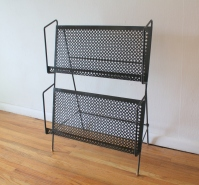 mcm quatrefoil magazine record book rack 4