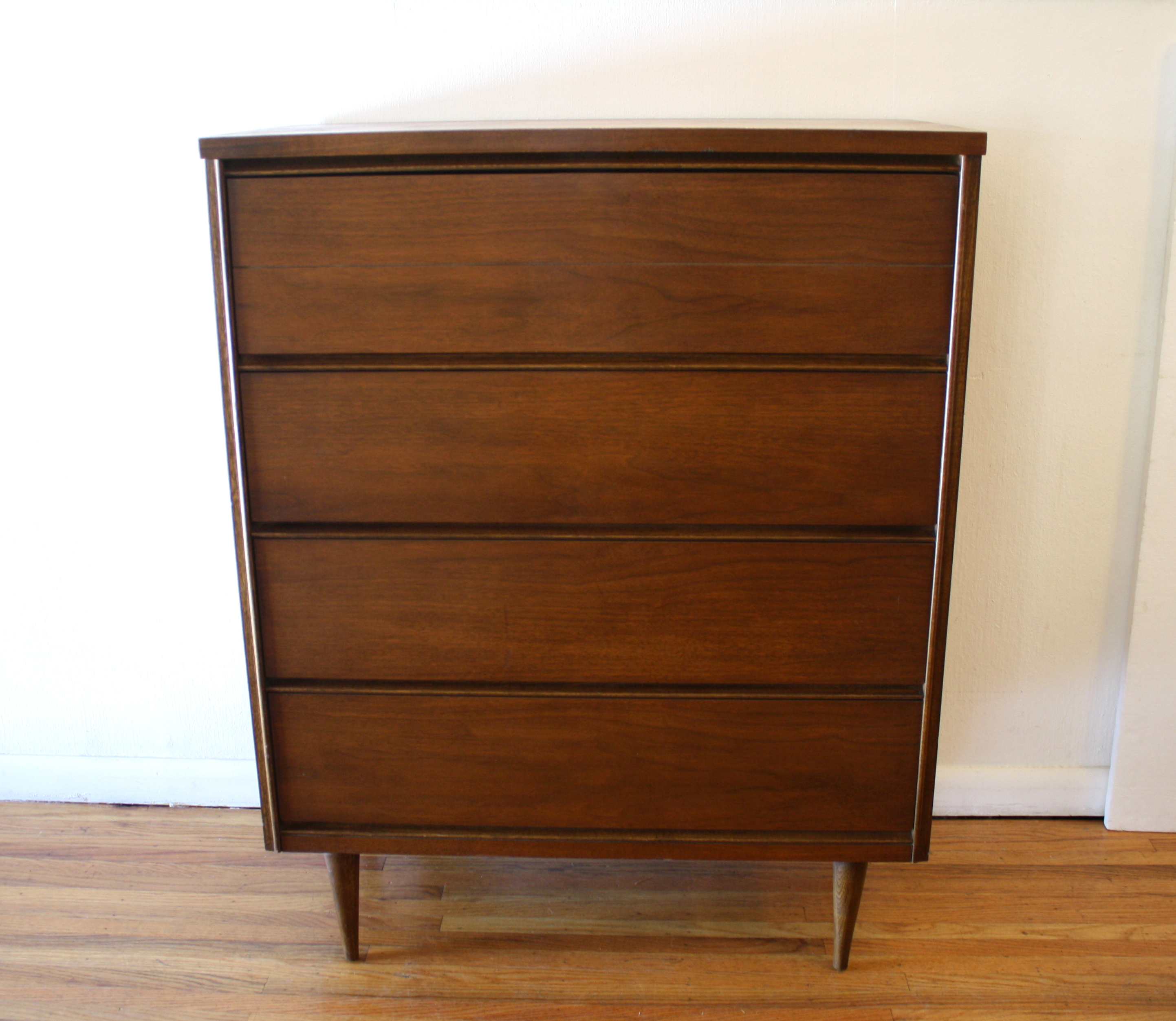 mcm tall dresser with streamlined drawers 1