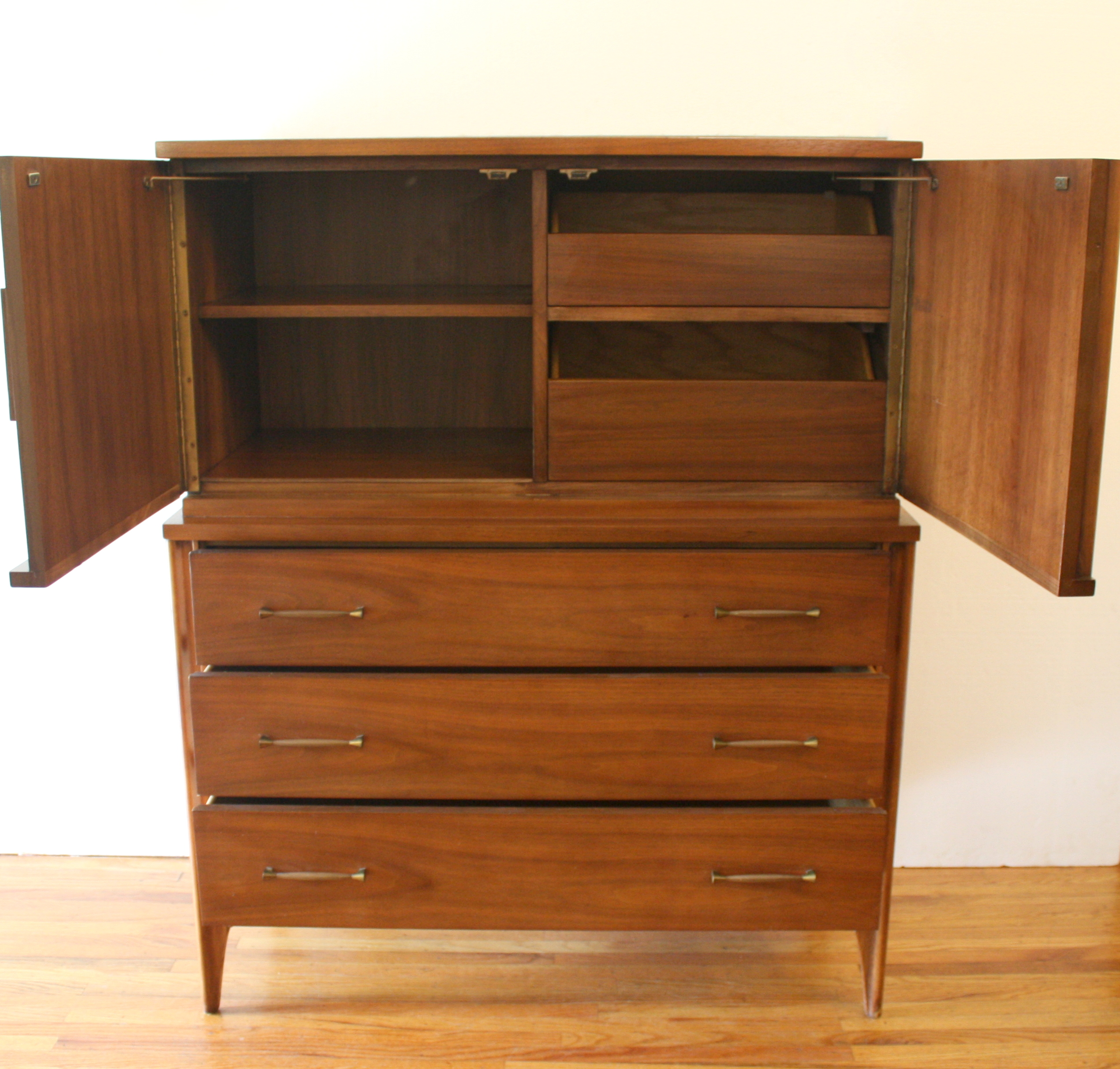 Mid Century Modern Kent Coffey Perspecta Tall Dresser