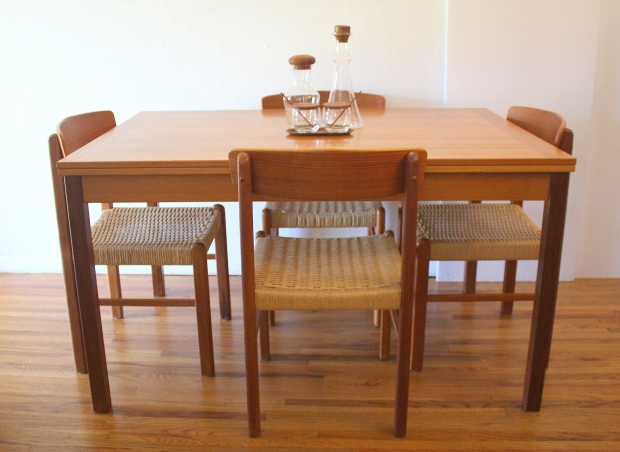 Danish Mobler teak dining table 1