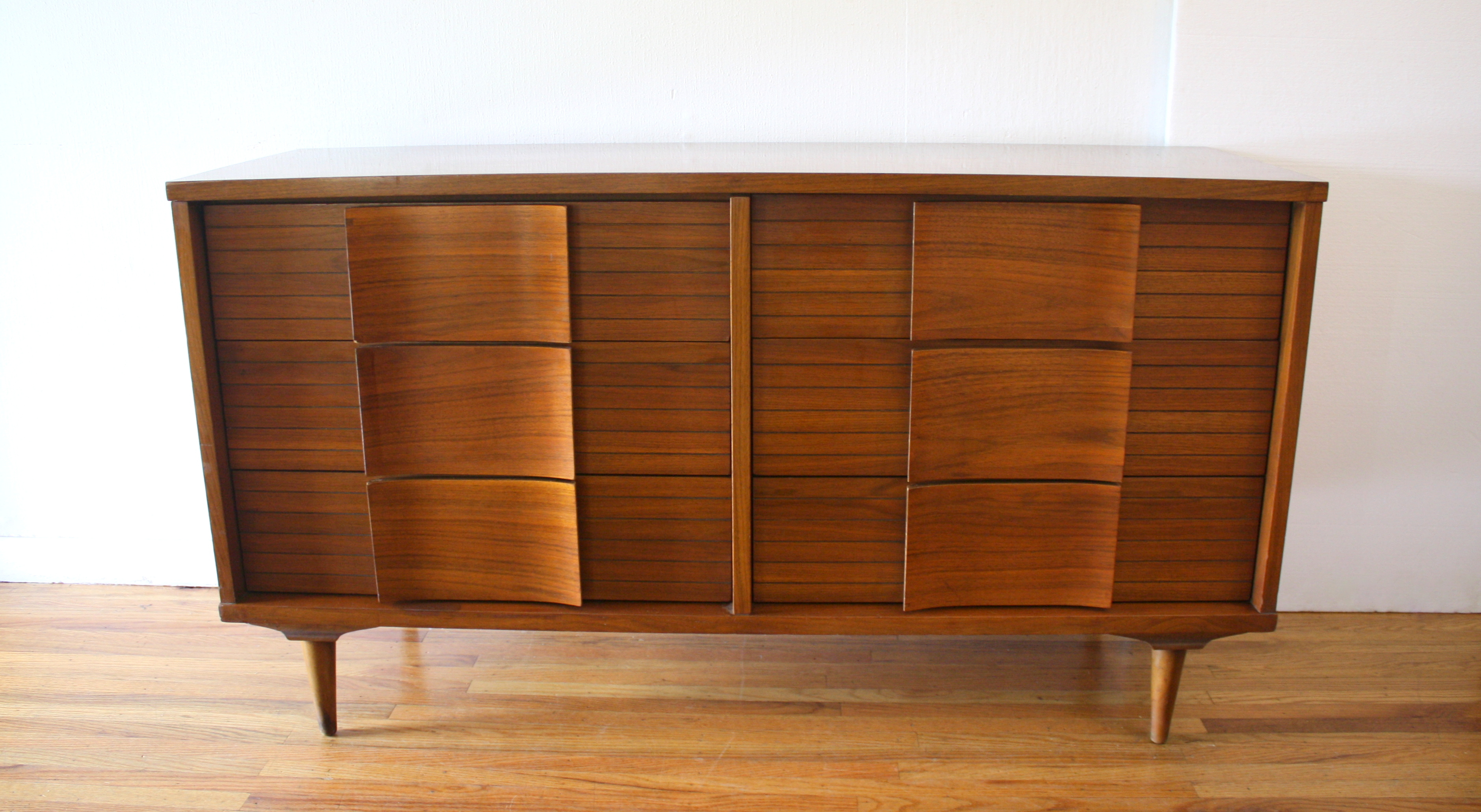Johnson Carper wave low dresser credenza 1