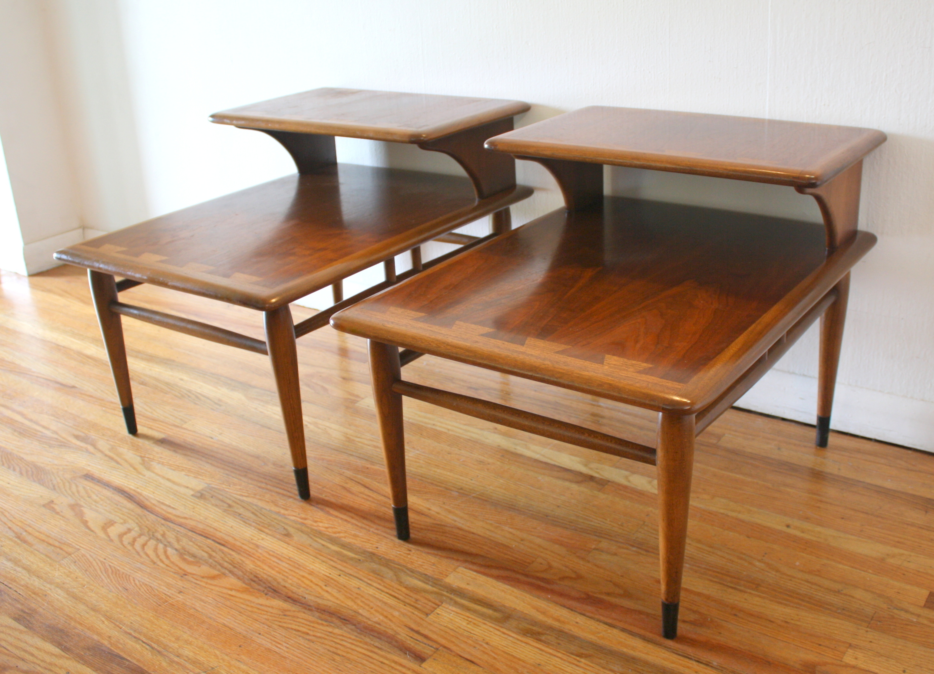 Mid Century Modern 2 Tiered Side End Tables From The Lane Acclaim Series |  Picked Vintage