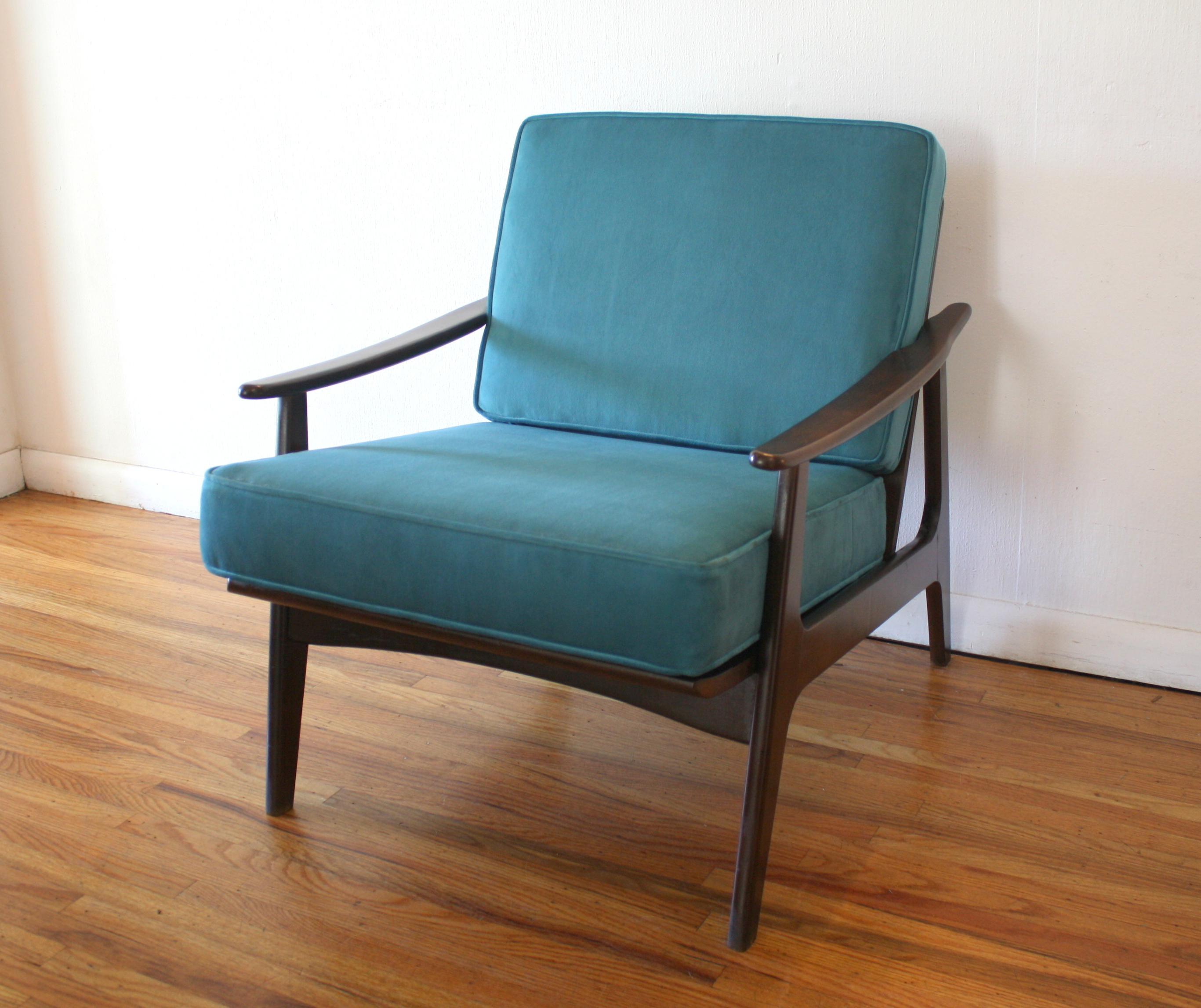 teal velvet arm chair 1