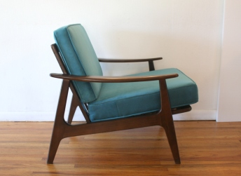 teal velvet arm chair 2