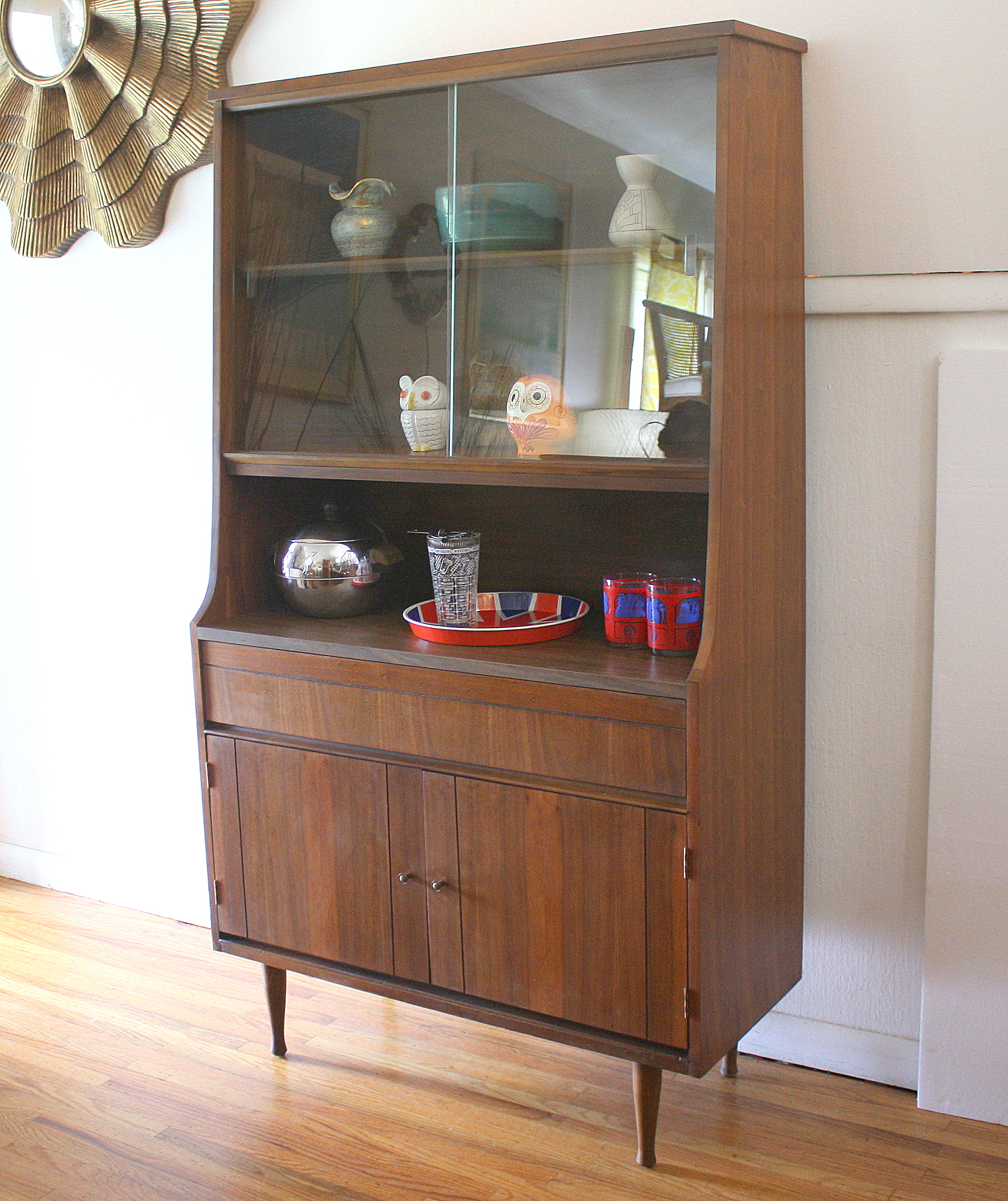 mid century cabinet china cabinets amp hutches picked vintage 23319