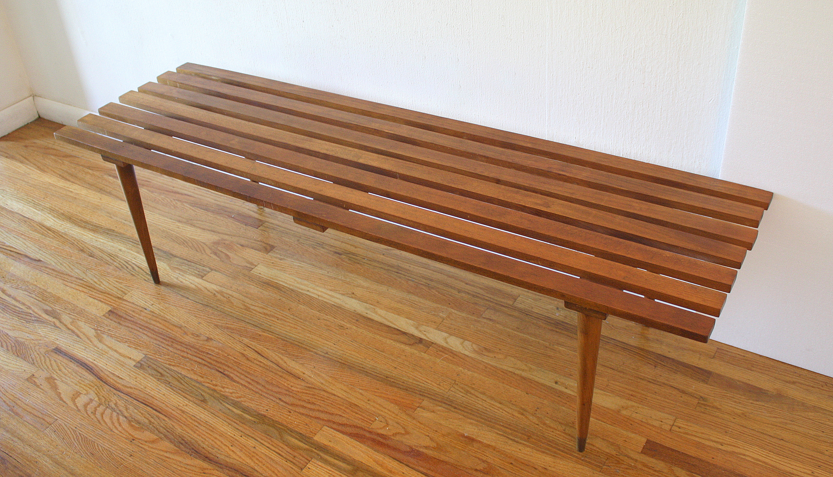 mcm slatted blonde bench 4